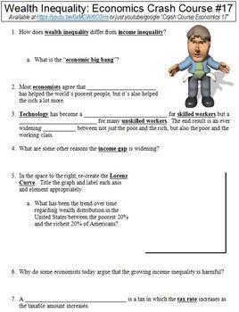 Crash Course Economics #17 (Wealth Inequality) worksheet