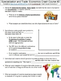 Crash Course Economics #2 (Specialization and Trade) worksheet
