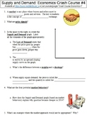 Crash Course Economics #4 (Supply and Demand) worksheet