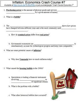 Economics Crash Course #7 (Inflation) worksheet