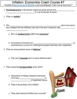 Crash Course Economics #7 (Inflation) worksheet