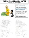 Crash Course Economics Worksheets Complete Set (Full Collection Episodes 1-35)