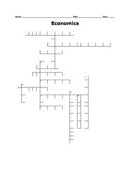 Economics Crossword Puzzle