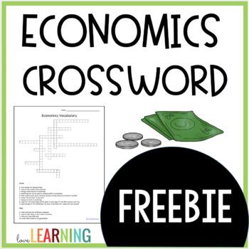 {FREE} Economics Crossword Puzzle