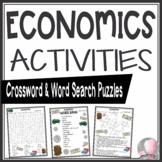 Economics Activities Crossword Puzzle and Word Search