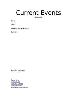 Economics Current Event Report
