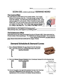 Economics Demand Lesson 2: Shifting Demand Curves, Determinants of Demand