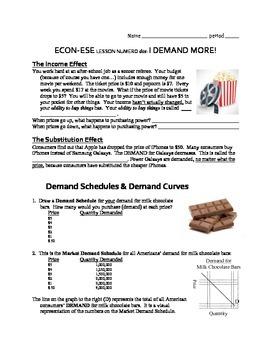 Economics Demand Lesson 2: Shifting Demand Curves, Determinants of Demand