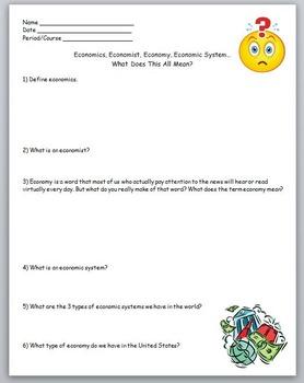 Economics- Economics, Economist, Economy, Econ. System..Wh