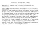 Economics (Elementary) Activity - Gallery Picture Walk