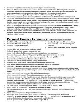 Economics End of Course Test (EOCT) Study Sheet