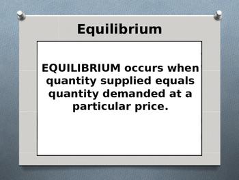 Economics - Equilibrium