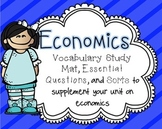 Economics Essential Questions & Vocabulary Mat {Primary Grades}