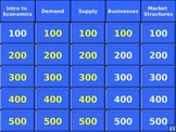 Economics Exam Review Jeopardy