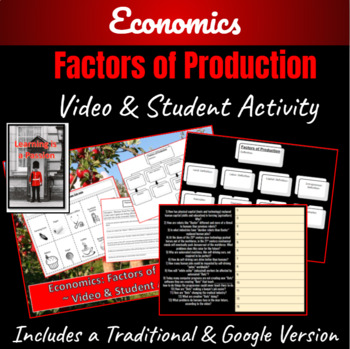 Economics: Factors of Production Student Activity