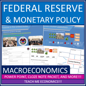 Economics - Federal Reserve Banking Power Point High School Bundle