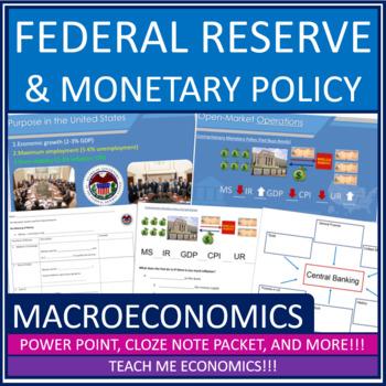 Economics - Federal Reserve Banking Power Point High School Bundle