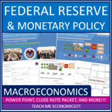Federal Reserve Banking Power Point, Note Packet, Tests and Quizzes, Economics
