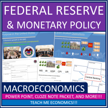 Economics - Federal Reserve Banking Power Point High School Money