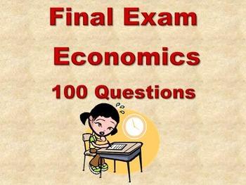 Economics -Final Exam