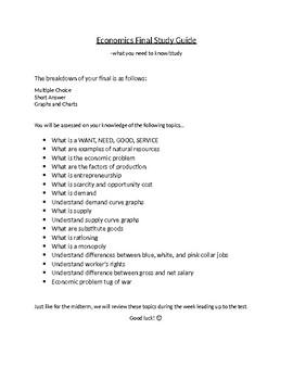 Economics Final Study Guide