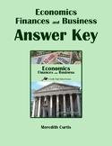 Economics, Finances, & Business Answer Key