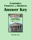 Economics, Finances, & Business Answer Key