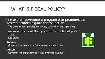 Economics: Fiscal Policy PowerPoint