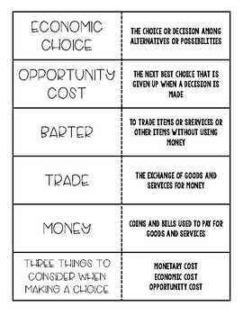 Economics Flash Cards