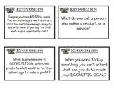 Economics Flashcards/Game & Answer Key