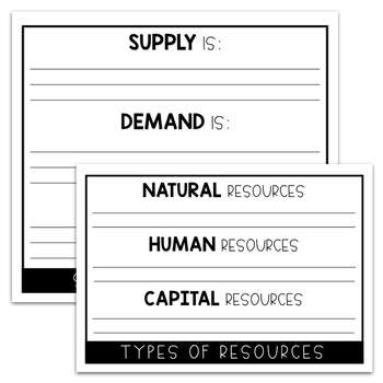 Economics Flip Book