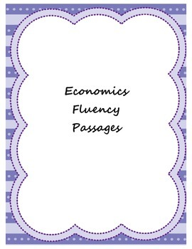 Economics Fluency Passages
