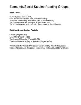 Economics Focused Book Groups