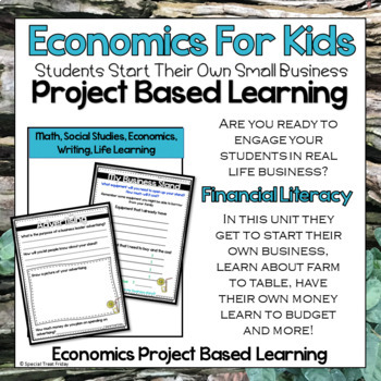 Economics Unit | Project Based Learning | Goods and Services