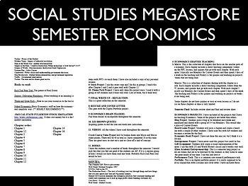 Economics Semester & Personal Finance