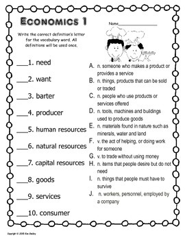Economics Fun - S'mores Vocabulary Posters, Matching Game and Word Wall