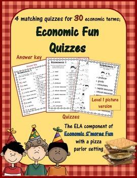 Economics Fun - Smores Vocabulary Quizzes