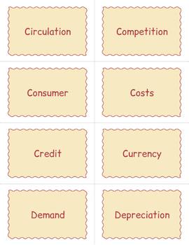Economics Game - Economics BINGO