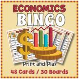 Economics Vocabulary BINGO & Memory Matching Card Game Activity