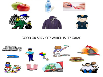 Economics- Good or Service? Which Is It?  Game