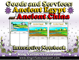Economics: Goods and Services Ancient Egypt China Interactive Notebook Activity