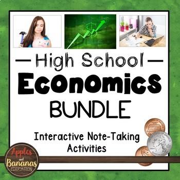 Economics Interactive Note-taking Activities Bundle