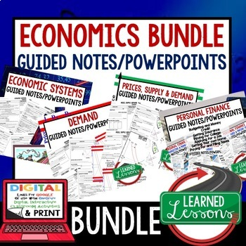Economics Guided Notes & PowerPoint,  Economic Notes, Free Enterprise BUNDLE