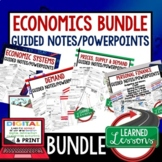 Economics Guided Notes & PowerPoint,  Economic Notes, Free