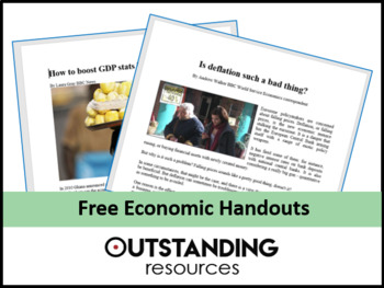 Economics - Handouts and Articles on Tax, Government Expenditure and Debt
