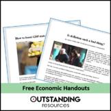 Economics - Handouts to go with lessons on market structure, monopolies etc..