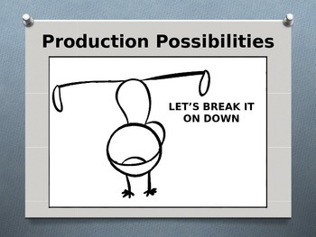 Economics - Individual Production  Possibilities