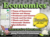Economics: Interactive Notebook BUNDLE - Goods Services Producers Consumers etc.