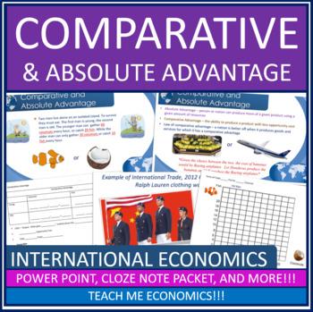 Economics - International Trade Comparative Advantage Power Point High School