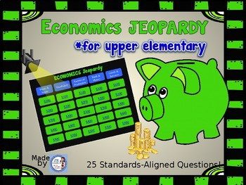 Economics JEOPARDY Interactive Review Game (intermediate grades)